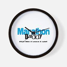 Marathon Daddy Peace Quiet Wall Clock