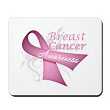 Floral Breast Cancer Mousepad