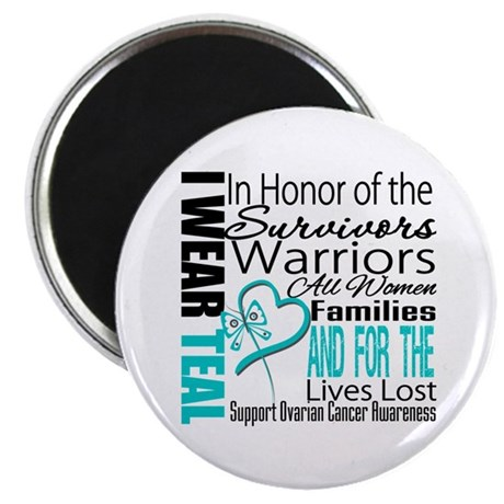 "IWearTeal TributeRibbon 2.25"" Magnet (100 pack)"