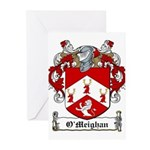 O'Meighan Family Crest Greeting Cards (Package of