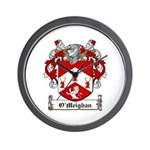 O'Meighan Family Crest Wall Clock