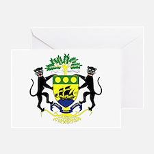 Gabon Coat of Arms Emblem Greeting Card