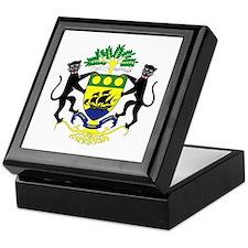 Gabon Coat of Arms Emblem Keepsake Box