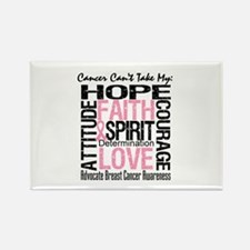 BreastCancer CantTakeHope Rectangle Magnet