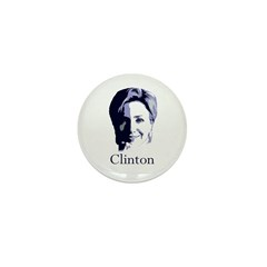 Hillary Clinton Portrait Mini Button (10 pack)
