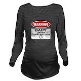 Baby under construction Dark Long Sleeve Maternity T-Shirt