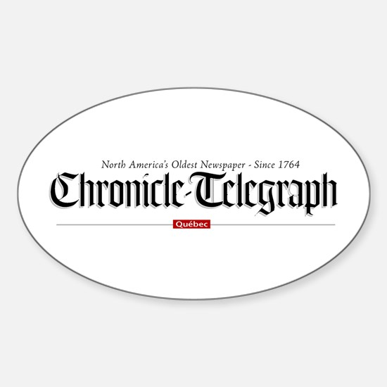 Unique Newspaper Sticker (Oval)