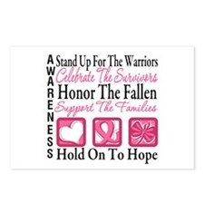 Breast Cancer StandUp Postcards (Package of 8)