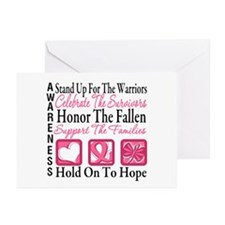 Breast Cancer StandUp Greeting Cards (Pk of 20)