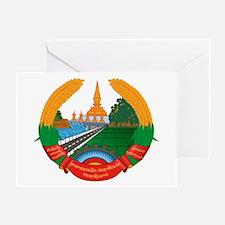 Laos Coat of Arms Emblem Greeting Card