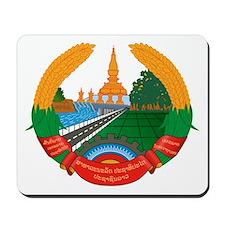 Laos Coat of Arms Emblem Mousepad