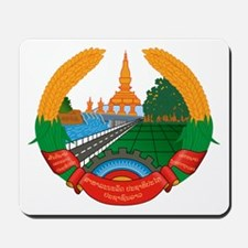 Laos Coat of Arms Emblem Mousepad
