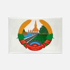 Laos Coat of Arms Emblem Rectangle Magnet
