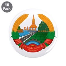 "Laos Coat of Arms Emblem 3.5"" Button (10 pack)"