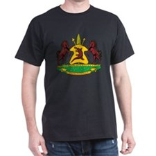 Lesotho Coat Of Arms Black T-Shirt