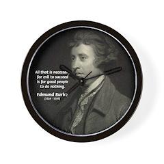 Edmund Burke: Good & Evil Wall Clock