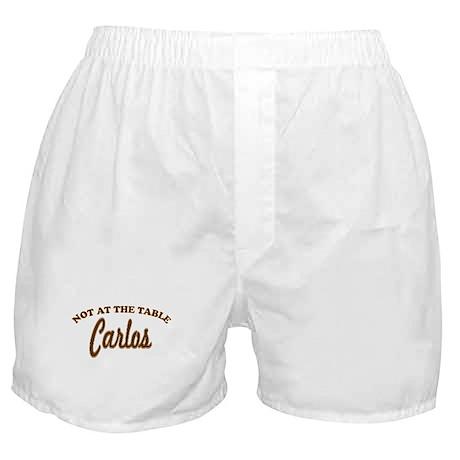 Not At The Table Carlos Boxer Shorts