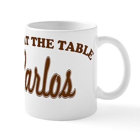 Not At The Table Carlos Mug