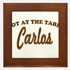 Not At The Table Carlos Framed Tile