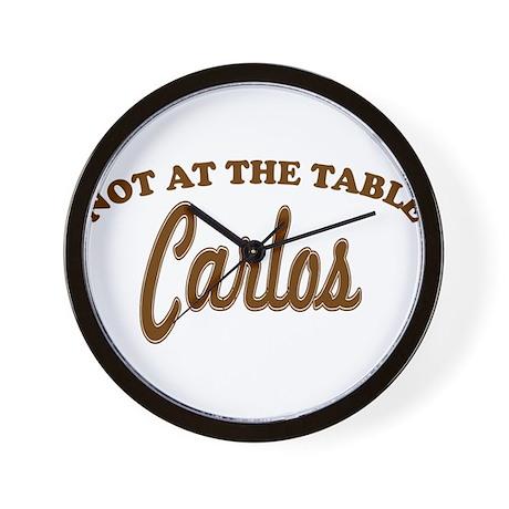 Not At The Table Carlos Wall Clock