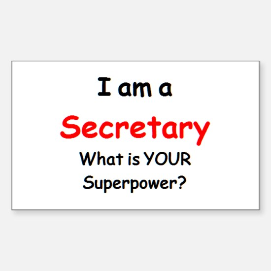 secretary Sticker (Rectangle)