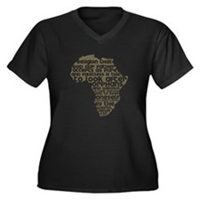 James 1:27 Women's Plus Size V-Neck Dark T-Shirt