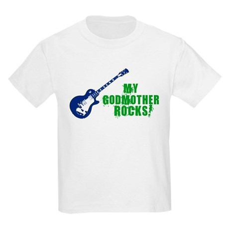 Rock On Godmother! Kids Light T-Shirt