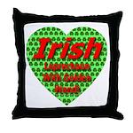 Irish Leprechaun With Golden Throw Pillow