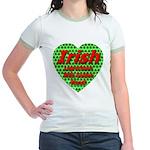 Irish Leprechaun With Golden Jr. Ringer T-Shirt
