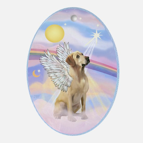 Yellow Labrador Angel Ornament (Oval)
