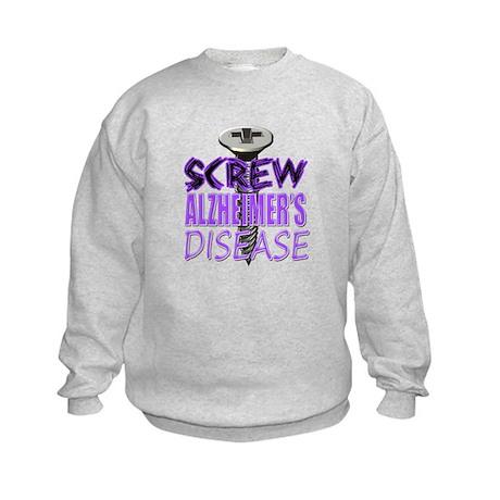 Screw Alzheimer's Disease Kids Sweatshirt