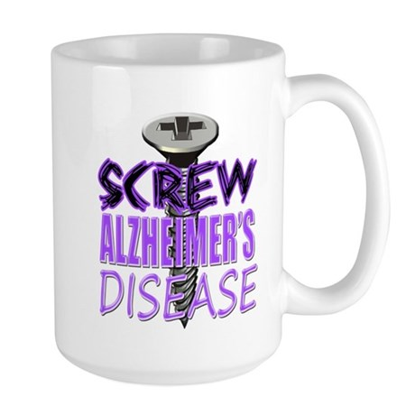 Screw Alzheimer's Disease Large Mug