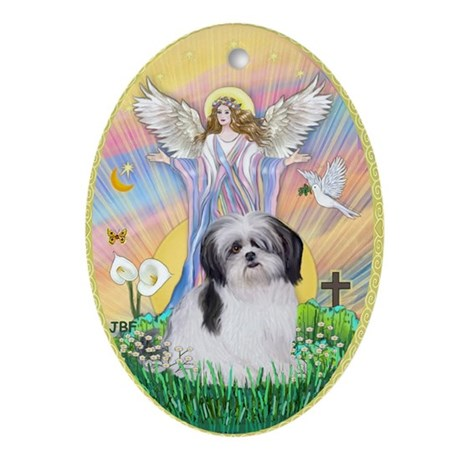 Blessng a Shih Tzu (A) Ornament (Oval)