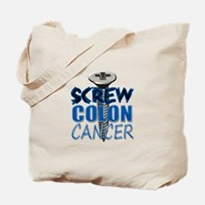 Screw Colon Cancer Tote Bag