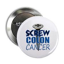 """Screw Colon Cancer 2.25"""" Button"""