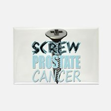 Screw Prostate Cancer Rectangle Magnet