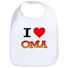 I Love Oma Bib