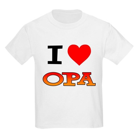 I Love Opa Kids Light T-Shirt