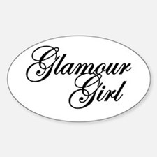 Glamour Girl Oval Decal