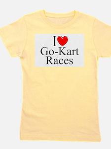 """""""I Love (Heart) Go-Kart Races"""" T-Shirt"""