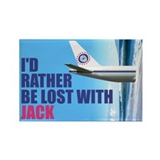 I'd rather be lost with Jack Rectangle Magnet