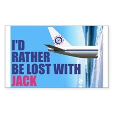 I'd rather be lost with Jack Decal