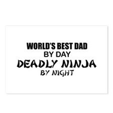 Deadly Ninja - World's Best Dad Postcards (Package
