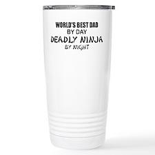 Deadly Ninja - World's Best Dad Travel Mug