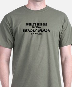 Deadly Ninja - World's Best Dad T-Shirt