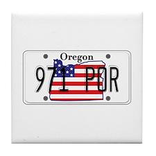 OR USA License Plate Tile Coaster