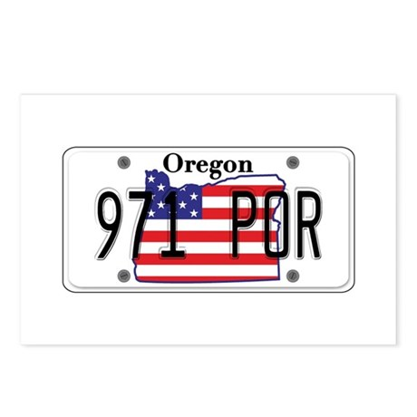 OR USA License Plate Postcards (Package of 8)