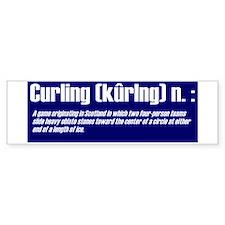"""""""Curling Defined"""" Large Bumper Bumper Sticker"""