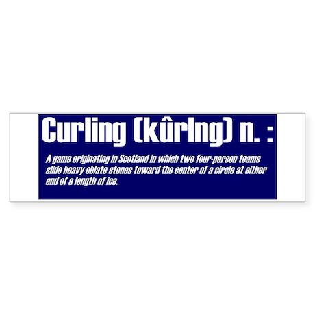 """Curling Defined"" Large Bumper Sticker"