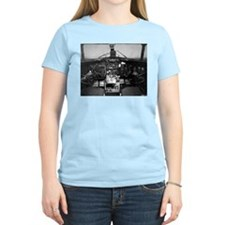 C-47 Cockpit Women's Pink T-Shirt